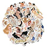 Sexy Woman Pin Up Girl Stickers, Laptop Skateboard Motorcycle Water Bottle Car Bike Luggage Trolley Case Guitar Decoration Vinyl Waterproof Decals 50 PCS No-Duplicate Stickers Pack
