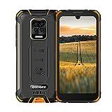 Smartphone Robusto DOOGEE S59, IP68 a Prueba de Agua Teléfono Móvil, Batería de 10050 mAh, 4GB + 64GB Android 10, Pantalla HD + de 5.71 '', Cuatro Cámaras de 16MP + 8MP, 4G Dual SIM, NFC/GPS-Naranja