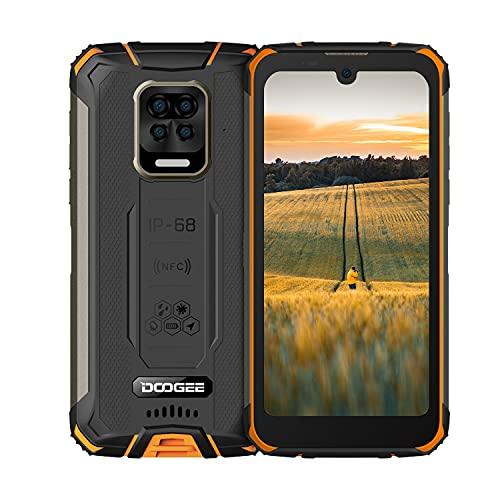 "Robustes Handy,DOOGEE S59 Android 10, 10050 mAh Akku, Outdoor Smartphone Ohne Vertrag 2 W Super-Lautsprecher 16 MP 4 Kamera 5,71\"" Zoll Wasserdichtes Telefon mit 4G Dual SIM NFC/GPS [2021](Orange)"