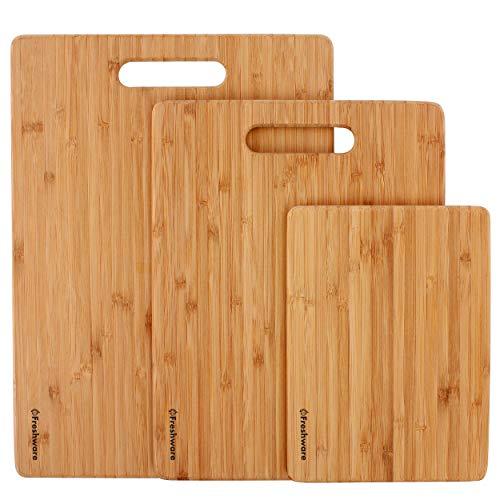 Set of 3 Eco-Friendly Wood Cutting Boards