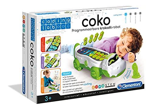 Clementoni 59121 Galileo Science – Coding Lab COKO, programmierbares Roboterkrokodil, Wissenschaft zum Lernen fürs Kinderzimmer, Spielzeug für Kinder ab 3 Jahren zu Weihnachten