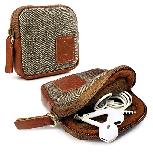 Tuff-Luv Herringbone Tweed Travel case für DXO One Camera, EE Mobile Broadband \ HooToo® TripMate/TP-LINK Wireless Router
