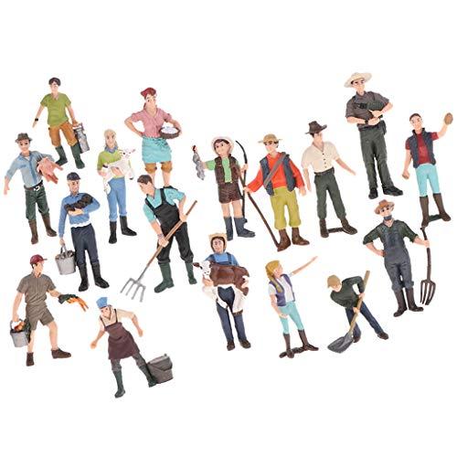 T TOOYFUL 1 Set Action Figure Toy Farmer Playsets Modello Plastic Children