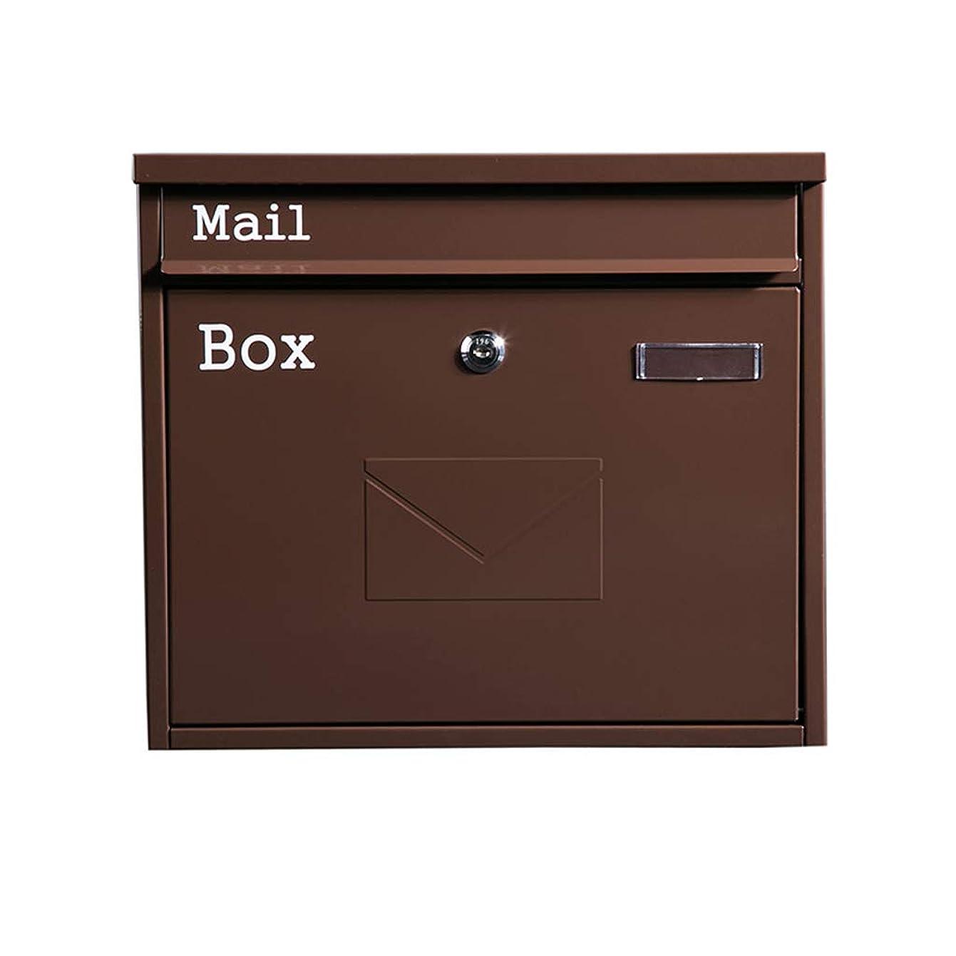 のぞき穴ブルーベルキャリアRMJAI キーロックが付いている壁に取り付けられたレターボックスの前部ローディングのメールボックス