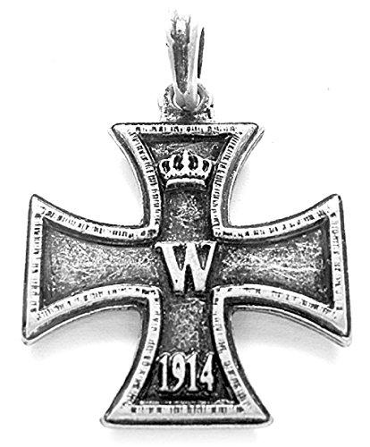 Germanenschmuck Das Eiserne Kreuz Anhänger (Kettenanhänger in Altsilber)