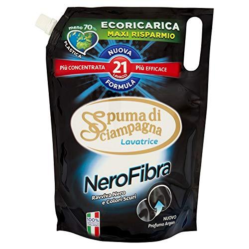 Spuma di Sciampagna Ecoricarica Lavatrice Liquido Nero Fibra 21 Lavaggi - 1155 ml