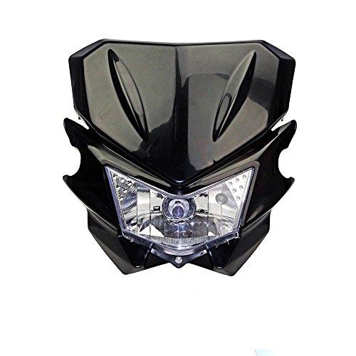Streetfighter Motorrad Dirtbike Scheinwerfer für CR480R CR500R CRF150R CRF150F CRF250X 450R XL250 XR100R 250R, Schwarz 12 V