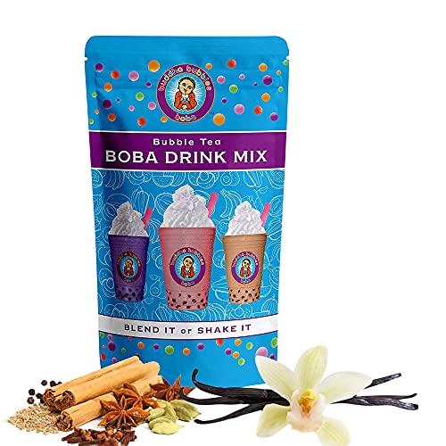 Vanilla Chai Tea Latte Boba / Bubble Tea Drink Mix Powder By Buddha Bubbles Boba 10 Ounces (283 Grams)