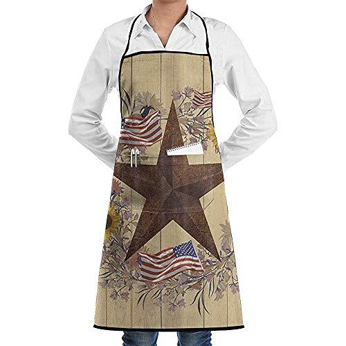 Pag Crane Sternenhimmel im Westen von Texas Baumwolle Schürze, Schürze für Männer und Frauen, zum Kochen, Backen, handgefertigt