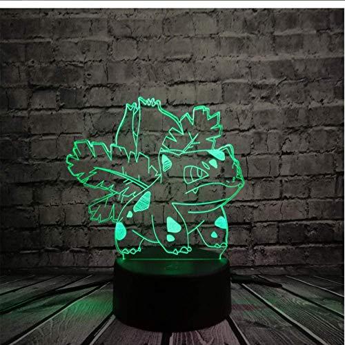 on Go Action 3D RGB lamp Turtle Bird Ball Bulbasaur Bay rol geschenk nachtlampje LED
