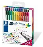 Staedtler 334 C30P - Paquete de 30 rotuladores, Multicolor