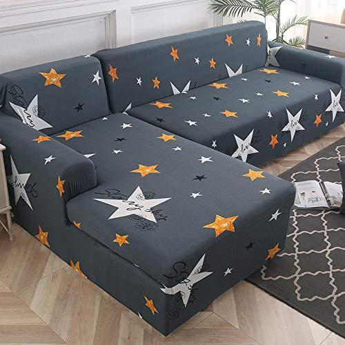 Fsogasilttlv Protector de sofá con Estampado 3 plazas, Funda de sofá Funda de sofá Funda de sofá elástica para Sala de Estar, Esquina de Mascotas Funda de sofá Chaise Longue en Forma de L