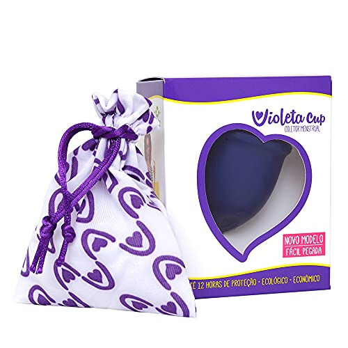 Coletor Menstrual Sport Cor Azul Tipo A, Violeta Cup, Azul