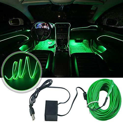 Eulifeled Luces LED USB de 10 m / 32 pies flexibles, tubo flexible de luz USB neón, alambre luminoso, decoración del coche, tira de fibra de vidrio, luz de 360 grados de...