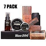 Famed Premium Bartpflege-100 Bio-Bartöl, 60 ml Haarpflegeöl (Köln) und 30 g Bartcreme, Friseurschere und Styling-Tool in Einer Reisetasche | Ideal für die Bartpflege -