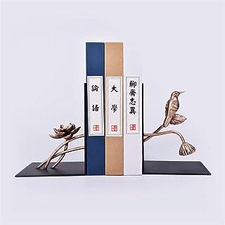 WSJTT Ambipolar Decorative Bird Theme Bookend, Heavy Duty Cast Iron, Vintage Shelf Decor, Antique Black
