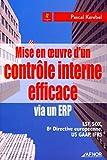Mise en oeuvre d'un contrôle interne efficace via un ERP