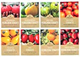 Heirloom Tomato Seeds Assortment - Eight Organic and Non-GMO...