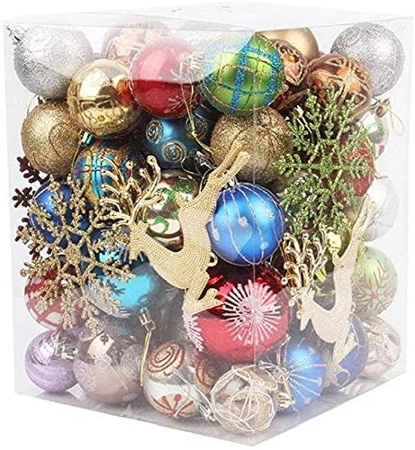 JYHZ Decoraciones De Navidad, Bolas De Navidad Matte Brillantes Plásticas, Adornos De Bola De Colores De Navidad, Decoraciones del Hogar