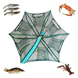 Automatic Portable Folding Fishing Net Lobster Cage Crayfish Trap, Crab Small Fish Shrimp Trap Easy to Use Hexagonal Automatic Trap Hole Cage (4020CM (Dia:15.74' Heights:7.87'))