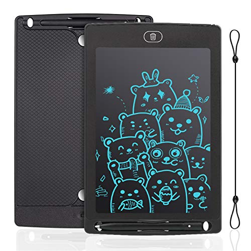IDEASY Tavoletta LCD da 12 Pollici, Tavolo da Disegno Monocolore, Doodle Pad, Lavagna Elettronica LCD per Bambini, Perfetta per Scuola, Casa e Ufficio (Nero)