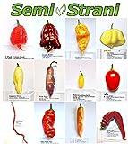 120 semi puri peperoncino nelle 12 varietà più curiose e piccanti: collezione fantasy + guida coltivazione