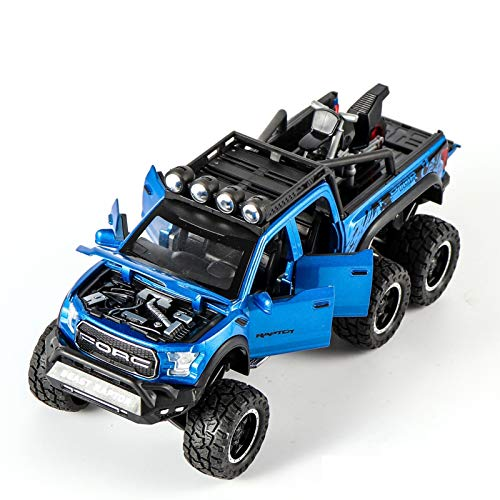 HCEB 1:24 para Ford para Coche Aleación Juguete Fundido A Presión Coche Juguete para Niños Regalo para Niña Modelo Coleccionable (Color : Azul)