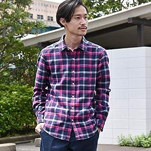 シップス(メンズ)(SHIPS) SC: フェザー チェック レギュラーカラー ネルシャツ 19FW【ネイビー/X-LARGE】