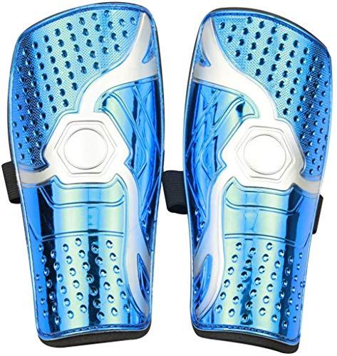 Kids Jugend Kinder Fußball Schienbeinschoner,Umfassender Schutz,Mit Gepolstertem Knöchelschutz Zur Vermeidung Von Verletzungen,Bietet Umfassenden Schutz für Die Beine Ihrer Kinder (Blau)