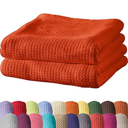 Erwin Müller Sommerdecke, Baumwolldecke - 2er-Pack - luftig-leicht, weiche Qualität, sehr angenehm - Terra Größe 100x150 cm - weitere Farben und Größen - 100% Baumwolle
