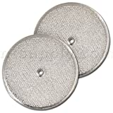 Aluminum Round Range Hood Filter, 9-1/2' Rd x 3/32' With Center Hole, Pack of 2