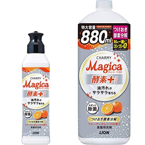 【Amazon.co.jp 限定】【まとめ買い】 チャーミーマジカ 食器用洗剤 酵素プラス フルーティオレンジの香り ...