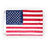 "HOOSUN American Flag 12.5"" x 18"" Boat Flag Embroidered Stars USA Flag Boat Marine Bike Car Flag Banner with 2 Brass Grommet,USA Flag for Indoor and Outdoor"