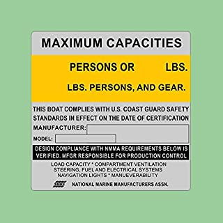 Best boat capacity stickers Reviews