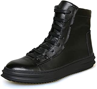 Dr. Martin Unisex Boots The first layer of leather men's short boots trend high-top boots thick bottom round head ankle boots high-top wear-resistant boots simple non-slip ankle boots