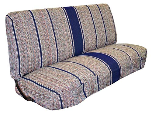West Coast Auto Universal Baja Saddle Blanket Bench Full Size Seat Cover Fits Ford, Chevrolet, Dodge, and Full Size Pickup Trucks (Blue)