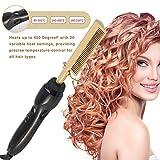 Peigne électrique Lisseur Dames Brosse à cheveux Redresseurs Portable Fer à friser chauffé Brosse à cheveux Fers à friser défrisant le soin des cheveux, 80W