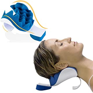 Kicpot Cervical Chiropractic Pillow Neck and Shoulder Relaxer,Contour Traction Device Support for Pain Relief Management a...