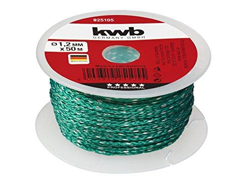 KWB 9251-05 Cuerda para albañil (50 m, 1,2 mm), color verde