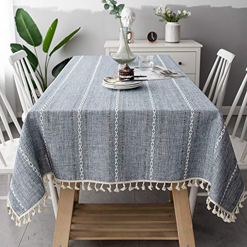 LIUJIU El mantel de vinilo El mantel de PVC puede limpiar picnic interior/exterior, barbacoas y fundas de mesa, 90 x 140 cm
