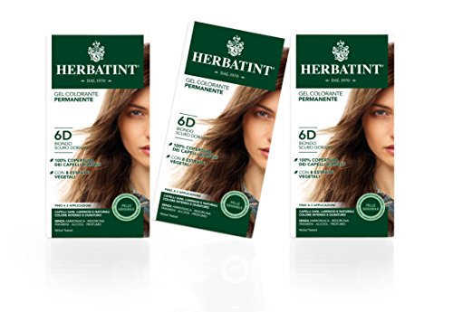 Herbatint Haarfarbe Gel 6D Dunkeles Gold Blond 3x150ml