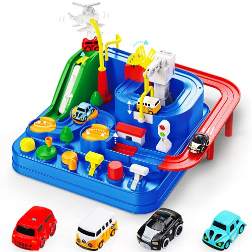 TOY Life Car Adventure Toys Race Track for Toddlers Toy Vehicle Playsets &...
