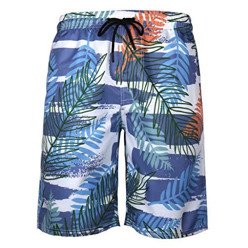 iCerber Herren Badehose Freizeit 3D Hawaii Grafik Druck Sommer Schnelltrocknend Surf Badeshorts Swim Shorts Sporthose S-XXXXXXL(XXXXXL,Blau)
