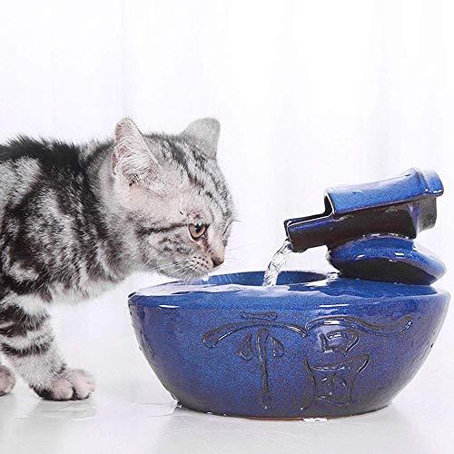 Perro o Cen Pet Water Fountain Fuente de Agua para Mascotas de circulación automática Ultra silenciosa para Gatos y Perros pequeños Uso en Interiores y Exteriores 1.0L Mute
