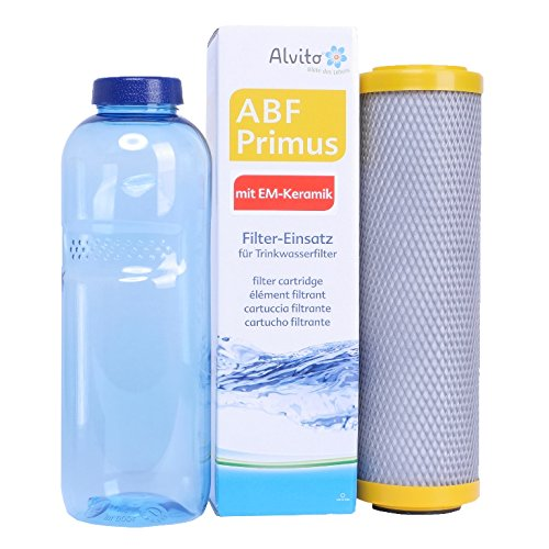 Sanquell GmbH ABF Primus EM Paket 31| feine Filterung | Frischer und weicherer Geschmack | Optimierung durch Aktivierung und Energetisierung | GRATIS TRITAN-Flasche - BPA-frei