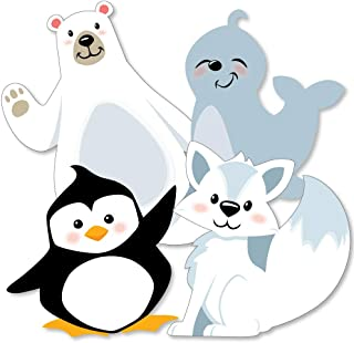 Arctic Polar Animals - Polar Bear, Seal, Penguin and Arctic Fox Decorations DIY Winter Baby Shower or Birthday Party Essen...