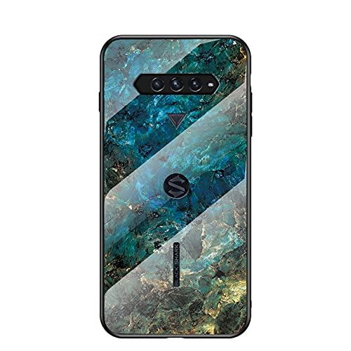 Capa de telefone mármore para Black Shark 4 Pro, vidro temperado à prova de arranhões para Xiaomi Black Shark 4 Pro - B