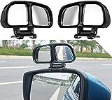 Adhesivo Espejos de Punto Ciego, 2 Retrovisores de ángulo Muerto, Coche Blind Spot Espejos, Coche Espejos Retrovisores Accesorios, Ajuste Espejo para un Campo de Visión óptimo (Izquierda + Derecha)