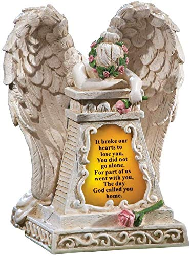Angel Garden Statues Sympathy Gift -Cementary Decoration, Memorial Statue for Home Garden -Express Your Sympathy with Condolence Gilfs, Berreavement Gifts (Ivory Weeping Angel)