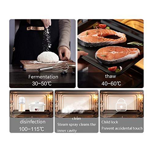 51lRIMNBSEL - YXZQ 28L Mini-Ofen Haushalt Multifunktions-Dampfofen All-in-One 30 Arten von Menü-Timing Doppelschicht-Tür aus gehärtetem Glas 1,2 l Wassertank mit Zubehör 2050W